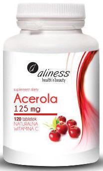 Acerola - naturalna witamina C 125 mg - 120 tabletek