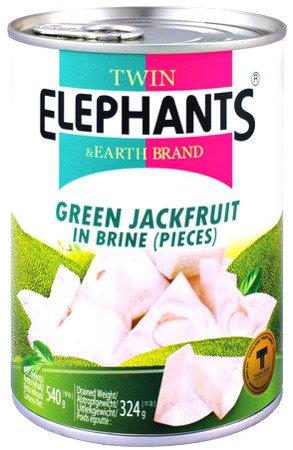 Jackfruit (dżakfrut) w słonej zalewie 540g - Twin Elephants & Earth Brand