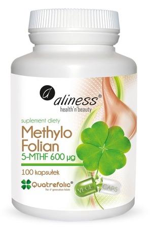 Kwas foliowy (witamina B9) Methylo Folian 5-MTHF 600 μg - 100 kapsułek VEGE
