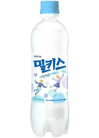 Milkis Original, mleczny napój gazowany o smaku jogurtu 500ml - LOTTE