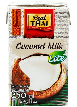 Mleko kokosowe Lite (55% wyciągu z kokosa) 250ml - Real Thai