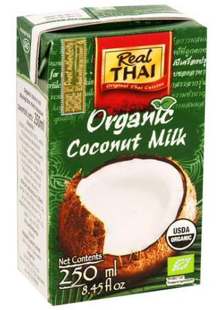 Mleko kokosowe Organic BIO (85% wyciągu z kokosa) 250ml - Real Thai