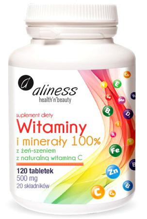Witaminy i minerały 100% - 120 tabletek